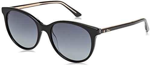 Dior Damen MONTAIGNE16S HD NSI Sonnenbrille, Schwarz (Black Crystal/Grey Sf), 53