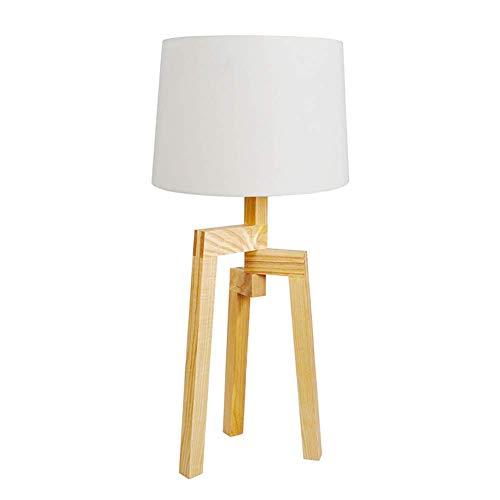Mode Moderne LED-Stoff-Tischlampe Adjust E27 verstellbare Holz Design Dekoration Schreibtischlampe für Schlafzimmer Arbeitszimmer Büro Leselampe (Farbe : Push Button Switch B, größe : 70 * 30cm)