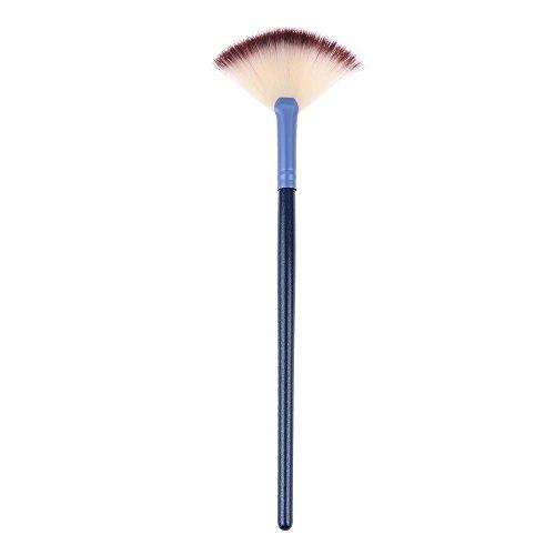 VANKER Petit Secteur Forme Pinceau Maquillage Rougir Poudre Fondation Brosse de Surligneur Bleu Bleu