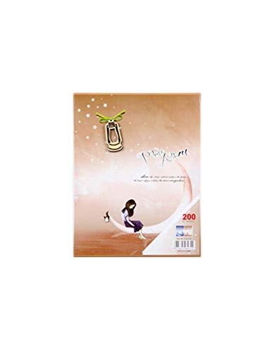 DPHD Album 4D Große 6 Zoll 200 Album Scrapbook Foto Frame Insert Alben Kinder Speicher Box Münze Alben Hochzeit Foto-Sammlung -