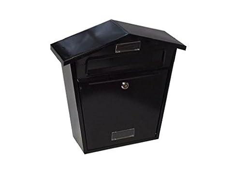 Schwarz außen abschließbar Briefkasten 8x 26,7x 6,3cm