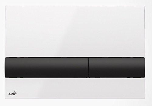 WC Vorwandelement für Trockenbau 85 cm inklusive Betätigungsplatte Weiss/ Schwarz Unterputzspülkasten Spülkasten Wand WC hängend Schallschutz