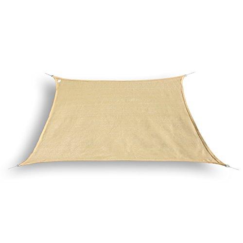 hanSe Marken Sonnensegel Sonnenschutz Segel Trapez 3/4 x 2m, Farbe: Sand