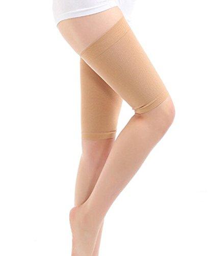 Slim Wrap (natuworld Damen Beauty Slim Verlust Gewicht superdünn Elastische atmungsaktiv Bein Wrap Gürtel, Oberschenkel Abnehmen Kompression Socken, Burn Fat dünne Bein Socken, nude, Large)