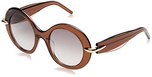 Pomellato pm0005s 005, occhiali da sole donna, marrone (005-brown/brown), 51