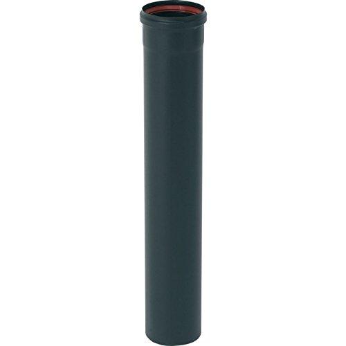Tuyau de 100cm émail noir mat Diamètre 80mm pour poêles à Pellets + Joint fibre - 344019