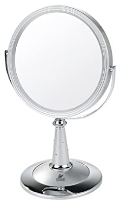 Danielle Silver/Chrome UV Finish Pedestal Mirror with Swarovski Elements
