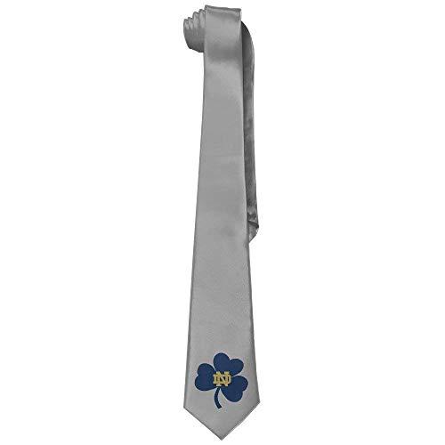 xcvgcxcvasda Mens Collections Notre Dame Clover Tie Necktie Mens Womens For Weddings Groomsmen Business Gifts