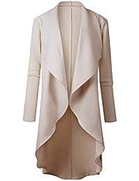 Adelina Cardigan Mujer Largos Elegantes Asimetricos Irregular Chaqueta De Punto Primavera Otoño Fashion Retro Elegantes Anchos