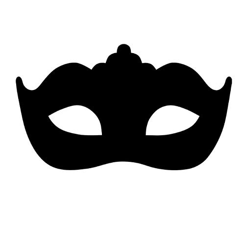 Moderne Maskerade Maske Wand Aufkleber Wohnzimmer Wand Aufkleber Kinder Wandbild Schlafzimmer Vinyl abnehmbare Wohnkultur wasserdicht 70x44cm