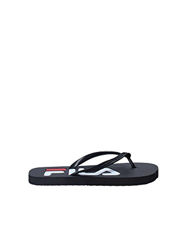 FILA Damen Troy Slipper Flip Flops Synthetik Zehentrenner Black Größe 39