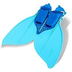 Yosoo Mermaid Tail Monopalme Monopalme Flippers Piscine Toy baignable pour la jeunesse (bleu)