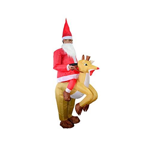 Aufblasbare Weihnachtsmann Anzug - Elch-Kostüm, Aufblasbar, Weihnachten, Weihnachtsmann, Cosplay, Rentier,