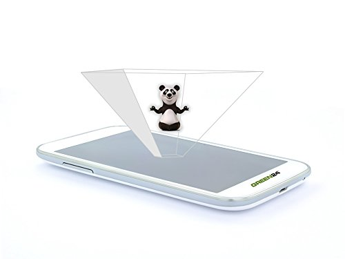 purital® 3D Handy Hologramm Pyramide Projektor Folie - Laser Holographic (3er Set Smartphone) (Hologramm-projektor)