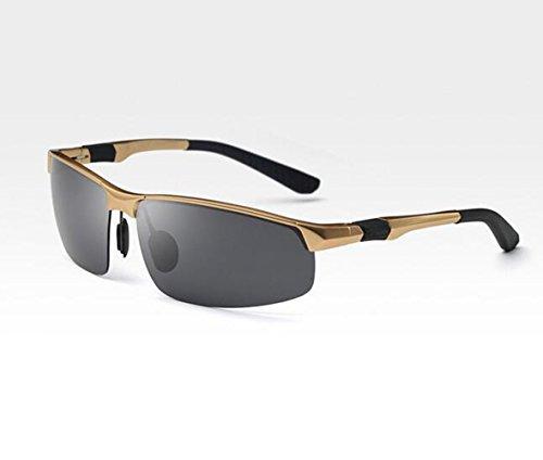 SHULING Sonnenbrille Mit Dem Auto Fahren Sonnenbrille Offset Optische Sonnenbrillen Herren Sonnenbrillen Persönlichkeit Fahrer Spiegel Spiegel Bewegung, Box Kim/Schwarz Grau Film