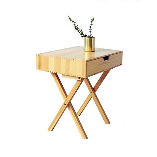 Bed table-LH Nachttisch mit Schubladenaufbewahrung, X-Shape-Nachttisch mit Holzbeinen Sofa-Beistelltisch für Wohnzimmer, Schlafzimmer-Nachttisch-Schrank-Akzent-Möbel (größe : 40x52x58cm) - Schrank-akzent-schlafzimmer-möbel