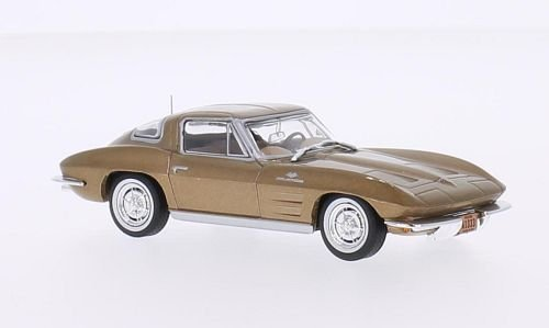 chevrolet-corvette-c2-stingray-dore-1963-voiture-miniature-miniature-deja-montee-whitebox-143