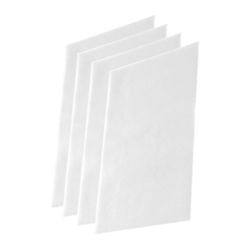Peahop Kühlschrankmatten,4 Teile Eva Kühlschrank Pad Antifouling Mehltau Feuchtigkeit Kühlschrank Matten Schublade Regal Liner -