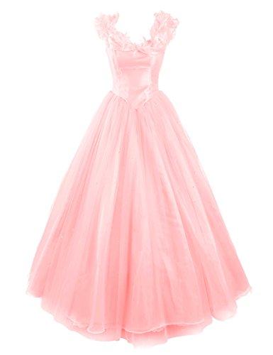 Dresstells, Robe de Cendrillon, robe de cérémonie/soirée/bal longueur ras du sol, mode de bal Rose