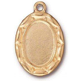 Cadre Ovale festonné Charme Antique or * * * *