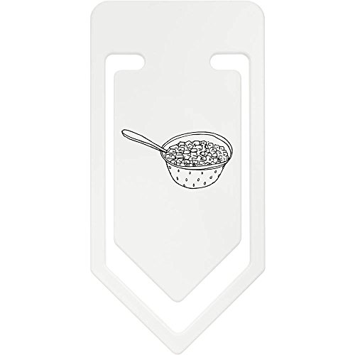 Azeeda 141mm 'Schüssel Müsli' Riesige Plastik Büroklammer (CC00029176)