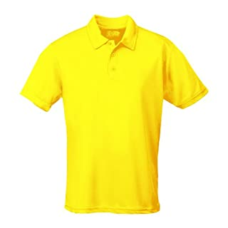 AWD Just Cool Breathable Cool Polo Shirt Sun Yellow M