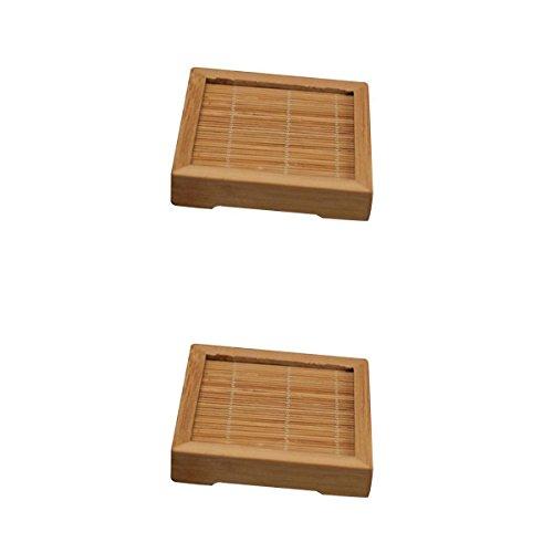 Magideal 2 x stuoia isolante fatta a mano giapponese per tazza da tè
