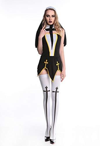 Kostüme Europäische Und Amerikanische Spiel Uniformen Rollenspiele Nonne Kostüme Sexy Uniformen Versuchungen Sexy Kostüme,Schwarz,Einheitsgröße ()