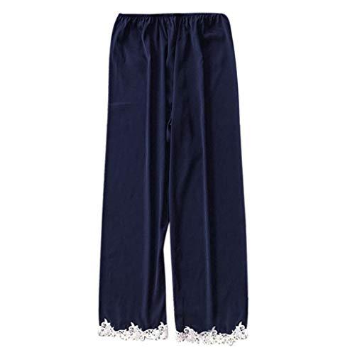 Fenverk 5PC Suit Nachtwäsche Damen Mode Dessous Unterwäsche Babydoll Nachtwäsche Kleid Rückenfrei Nachthemd Schlafanzüge Negligee Wäsche Set Rückenfrei Schlafanzüge(E Hose,L)