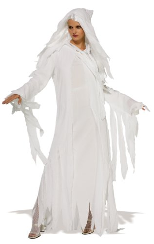 Ghostly Geist Kostüm. Standard-Größe 40-44. Kleid mit Gaze Overlay und Perücke.