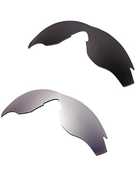 Hkuco Mens Replacement Lenses For Oakley M2 Black/Titanium Sunglasses