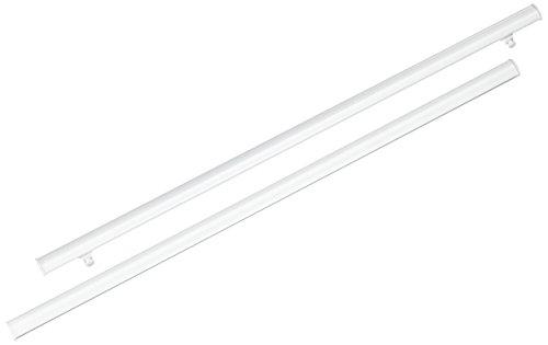 dekobase Paneelwagen Schiebegardinen, Metall, Weiß, 60 x 1 x 2 cm