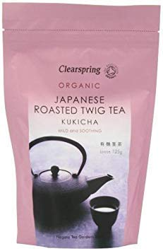 Clearspring - Japanese Roasted Kukicha Twig Loose Tea - 125g - Mild and Soothing - Organic