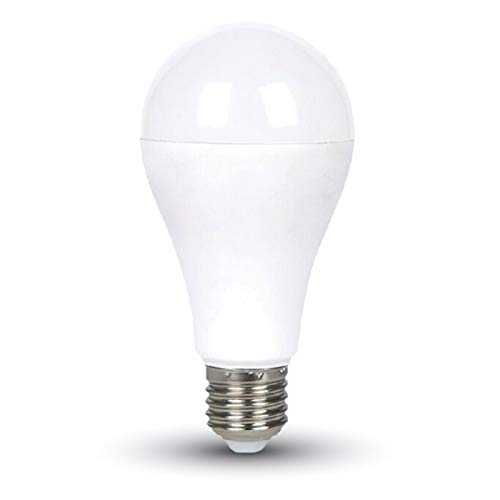 V-TAC Bombilla LED E27, 17W equivalente a 120 W, 1800 lúmenes, 130°