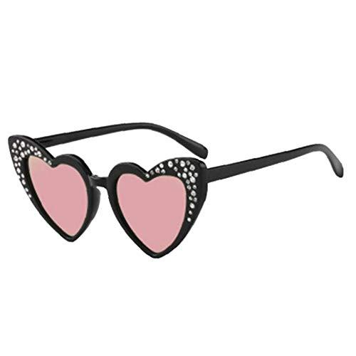 Kinder-Herz-Sonnenbrille Shaped - Nette Diamant-Herz-Geformte Sonnenbrille Für Mädchen