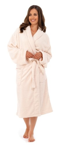 - 31qs6rpetwL - Loungeable Boutique Long Fleece Robes Womens Soft Dressing Gown