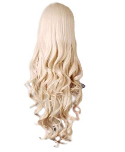 Zolimx Dame Farbe Lange Rolle Perücke Mode Wigs Damen Lange Gewellte Lockiges Haar Anime Cosplay Perücken