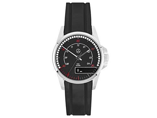 Reloj de Pulsera para Hombre Mercedes-Benz Trucks Negro/Rojo/Plateado, Acero Inoxidable/Silicona
