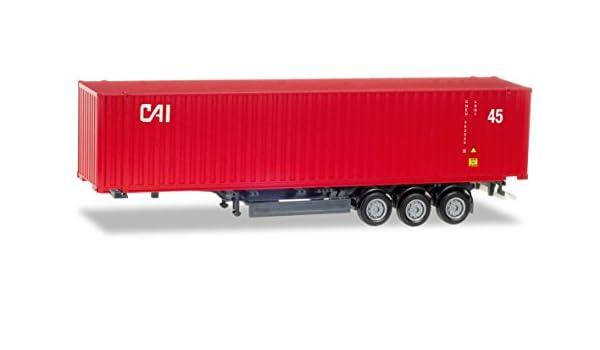 Container Feuerwehr Herpa 076807 H0 LKW Zubehör Stromaggregat und 2x 10 ft