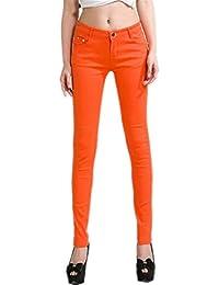Targogo Pantalon Slim pour Femmes Legging Jeans Pantalons Chic Leggings  Jeans Legging T 4cc91c4f94d