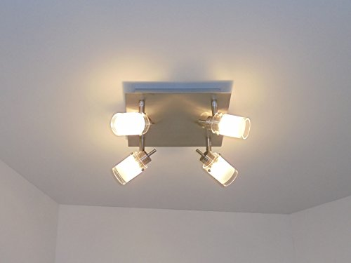 Plafonnier moderne plafonnier 4spots salle de bain chambre