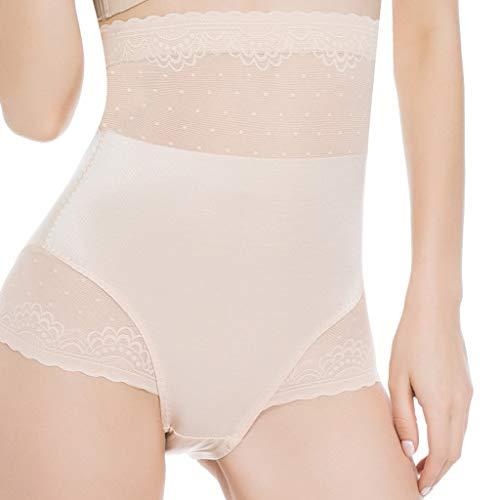 BiCophy Damen Slim Contral Seamless Body Shaping Lace Bottom Pant No Spce Hohe Taille Atmungsaktive Unterwäsche Gr. XXX-Large, (Cupid Kostüme Muster)