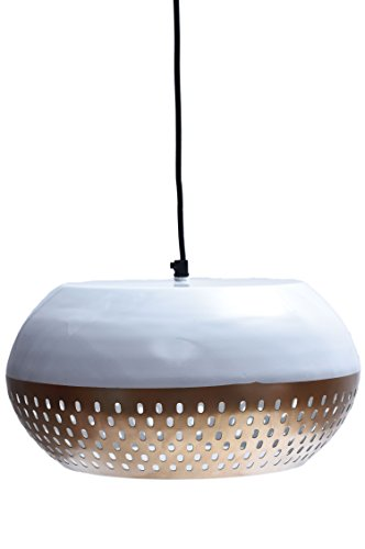 MAADES Design Vintage Pendelleuchte Lampe | Hängeleuchte Altesse Weiß Gold Ø = 33cm, geeignet für E27 Leuchtmittel | Diese Deckenlampe ist für Ihre Küche, Wohnzimmer oder über den Esstisch Ausgefallene Esstisch