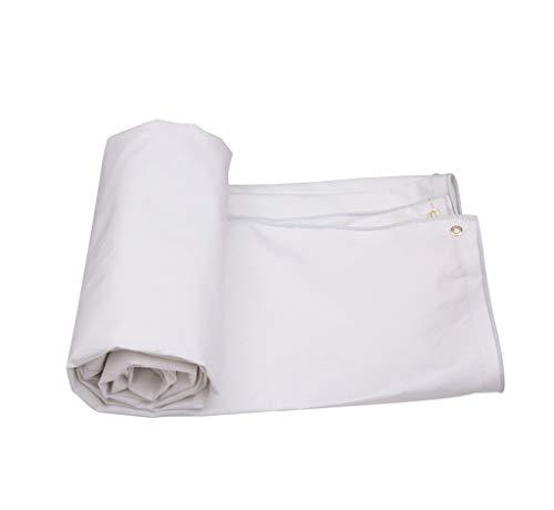 SJIAYB Poncho Impermeable, Tela Tejida Blanca Gruesa para la Comida campestre al Aire Libre Que acampa/poliéster + Material del PVC (Tamaño : 3 * 2m)