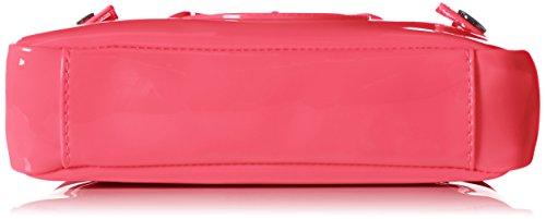 Borsa A Tracolla Brevetto Di Armani Jeans Mini Slade Rosa Pink Patent