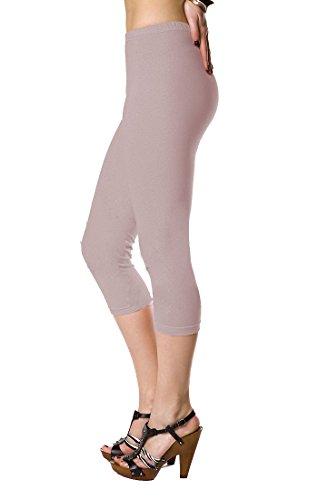 Futuro Fashion Lovely 3/4 Länge Baumwollleggings, Klassische Hose Stretch Active Einzigartig Farben...