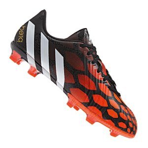 adidas Kid s Predator Instinct FG J Footwear  Black White Red  Size UK 4 5