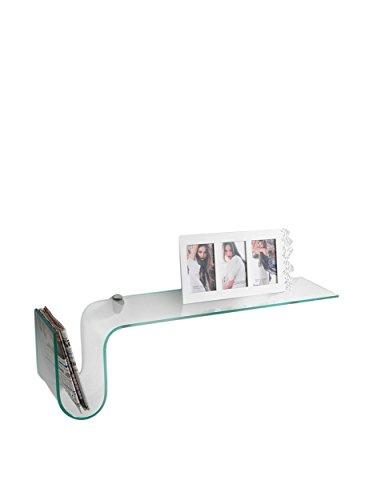 Wink design oxnard, mensola da muro o parete, vetro, trasparente