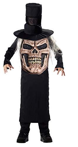 Fancy Me Kinder Jungen Zauberer Schädel Pumpkin Piraten verrückt Hut Halloween Party Kostüm Kleid Outfit - Schädel, 7-9 Years (Verrückte Hüte Für Kinder)