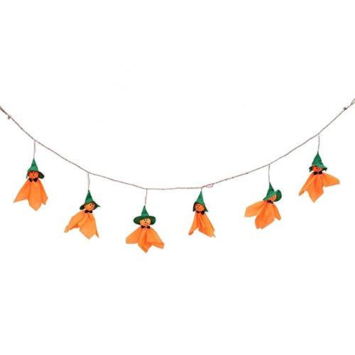 WSCOLL 1 Satz Cute Ghost Halloween Fahnen Dekoration Kinder lustige Witz Spielzeug Requisiten hängen Bunting Banner dekor Halloween Party - Cute Ghost Kostüm